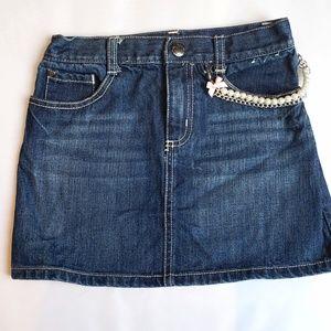 Jean skirt little girls Gymboree size 7